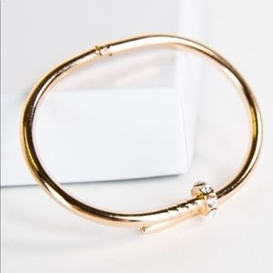 NEW Sterling Forever nail bracelet 14k plated